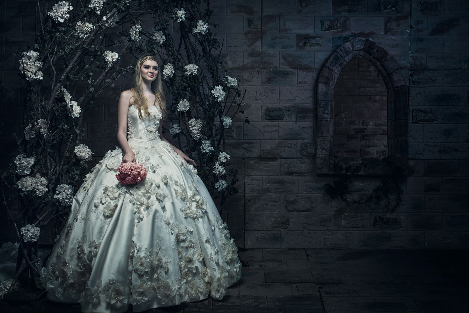 ivory bridal timeless wedding gown