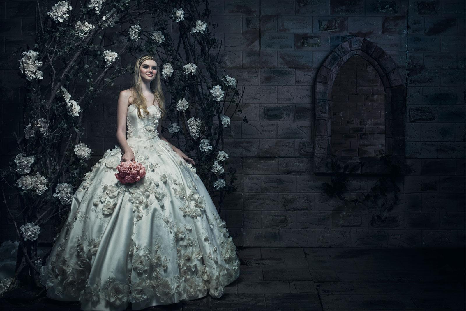 Ivory Bridal Romantic Timeless Elegant Wedding Gown