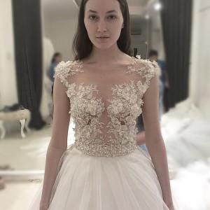 Wedding Photo, Before After, Ivory Bridal Make Up, Elegant Wedding Dress