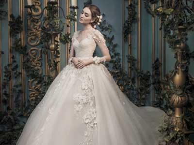 Gaun Pengantin Elegan, Ivory Bridal Gown, Gaun Pernikahan
