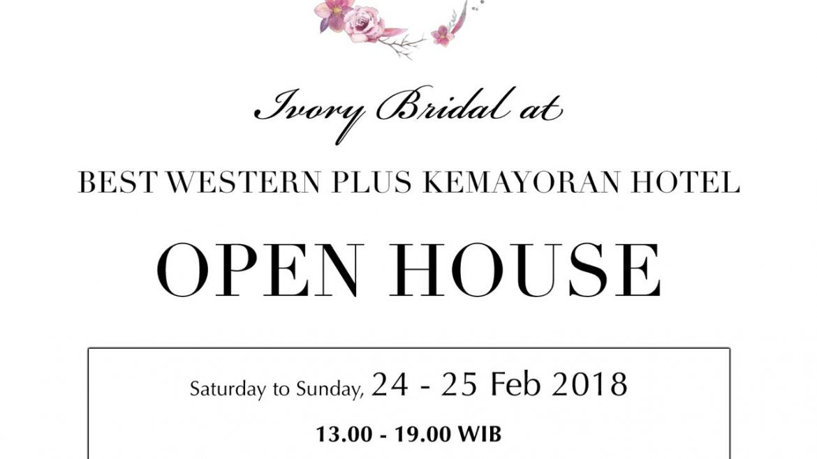 Open House Ivory Bridal Collection Best Western Kemayoran Jakarta Promotion Cashback
